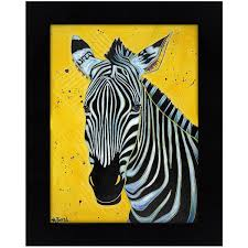Shop Zebra By Angela Bond Framed Print On Sale Free Shipping