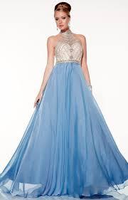 panoply 14799 beaded halter long chiffon dress