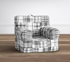 Pottery Barn Anywhere Chair Directions by Gray Madras Anywhere Chair Pottery Barn Kids