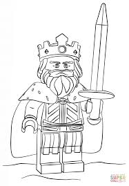 King Coloring Page Lego Free Printable Pages Online