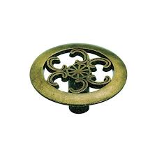 Cabinet Hardware Backplates Brass by Amerock Vintage Cabinet Knob In Antique Brass 890abs Knobs