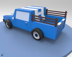 Karan Mirajkar - Mini Truck 3D - Low Poly Modeling