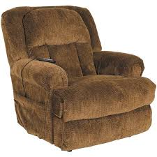 Burns Earth Brown Big Man Power Lift Lay Flat Recliner 0Q0 4847