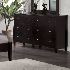 Black Dresser 6 Drawer by Shop Furniture Of America Milano Espresso 6 Drawer Dresser At