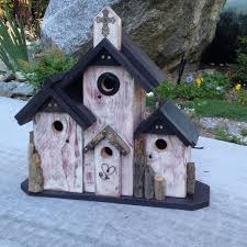 Custom Condo Birdhouse Rustic Functional Outdoor Patio Decorative Bird House Home Garden Handmade
