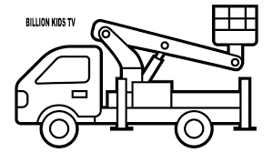 100 Truck Colors Construction Vehicles Coloring Pages With Aerial Platform Crane