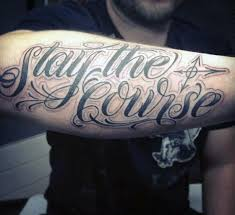 Script Wording Quote Tattoos For Guys