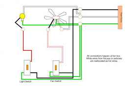 wiring a ceiling fan and can lights on separate switches