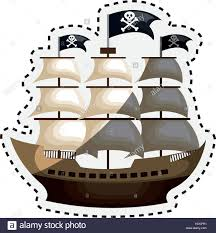 100 Design A Pirate Ship Pirate Ship Isolated Icon Vector Illustration Design Stock