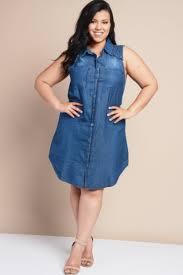 plus size denim dresses