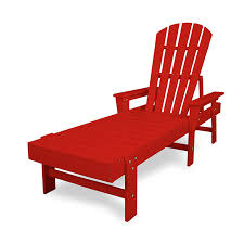 polywood recycled plastic adirondack style chaise lounge