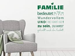 grazdesign wandtattoo familie bedeutet als wand dekoration