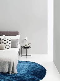 benuta shaggy hochflor teppich whisper blau ø 80 cm rund langflor teppich für schlafzimmer und wohnzimmer