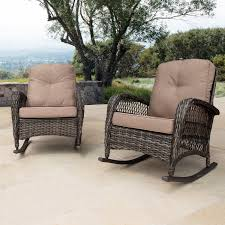 Corvus Salerno Outdoor Wicker Rocking Chair With Cushions   Porch ... Corvus Salerno Outdoor Wicker Rocking Chair With Cushions Hampton Bay Park Meadows Brown Swivel Lounge Beige Cushion Check Out Spring Haven Patio Rocker Included Choose Your Own Color Shopyourway 1960s Vintage In Empty Room With Wooden Floor Stock Photo Knollwood Victorian Child Size American 19th Century Wicker Rocking Chair Against The Windows Curtains Indoor Dark Green 848603015287 Ebay Amazoncom Tortuga Two Porch Chairs And Fniture Best Way For Relaxing Using