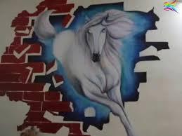 3D Wall Painting Of Horse By Sarvam Patel Mumbai India