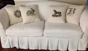 Camel Back Sofa Cover by Annie Compean Mccreary Made This Beautiful Linen Slipcover For My
