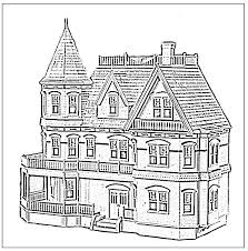 Adult Coloring Pages Houses
