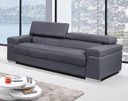 100 Modren Sofas Contemporary Sofa Upholstered In Grey Thick Italian Leather