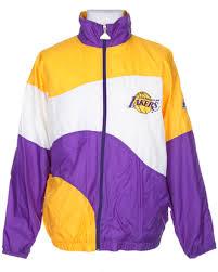 90s NBA Los Angeles Lakers Yellow Purple Sport Jacket