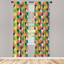 gardine fensterbehandlungen 2 panel set für wohnzimmer schlafzimmer dekor abakuhaus geometrisch retro mosaik fliesen kaufen otto