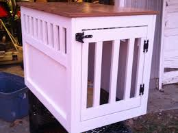ana white large wooden dog crate end table diy projects