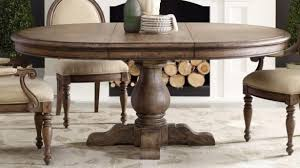 Lovely Perfect Round Pedestal Dining Table With Leaf Rustic Kitchen In Tables