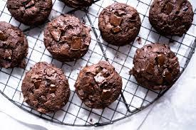 schoko orangen brownie cookies backbube