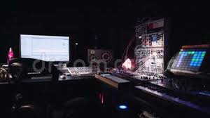 Sound Production Music Studio Stock Footage