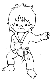 Coloring Download Karate Kid Pages Tai Kwon Do Tae Colouring