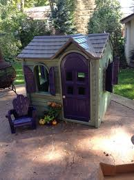 Little Tykes Play House Jazzed Up With Spray Paint. Bought A Cheap ... Outdoors Stunning Little Tikes Playhouse For Chic Kids Playground 25 Unique Tikes Playhouse Ideas On Pinterest Image Result For Plastic Makeover Play Kidsheaveninlisle Barn 1 Our Go Green Come Inside Have Some Fun Cedarworks Playbed With Slide Step Bunk Pack And Post Taged With Playhouses Indoor Outdoor