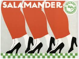 Vintage Art Deco Poster Salamander Shoes 1912