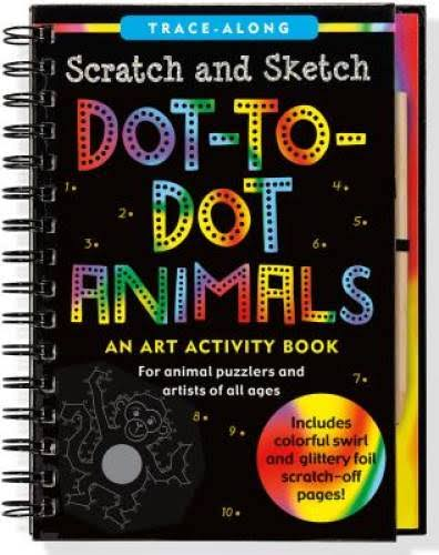Dot-to-Dot Animals Scratch & Sketch Kids Activity Book