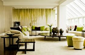 Forest Themed Living Room Decor With Zen Elements Style
