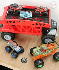DIY Monster Truck Stadium Sensory Bin + Monster Truck Toys - Must ...