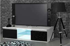 graft tv lowboard weiß schwarz hochglanz fronten led 120 cm esa home