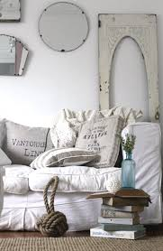 Beauteous Rustic Coastal Home Design With Beachy Living Room Excerpt Shabby Chic