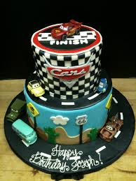 Two Tiered Cars Cake by Spudnuts on DeviantArt
