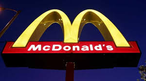 A McDonalds Logo Is Seen Lit Outside One Of The Companys Restaurants Thursday Evening April