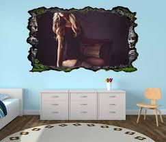 3d wandtattoo erotik frau gefesselt fesseln korsett stuhl maske schlafzimmer selbstklebend wandbild wandsticker wohnzimmer wand aufkleber 11o343