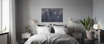 vintage flower wall blue