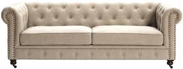 gordon tufted sofa 32 hx91 wx38 d natural linen furniture