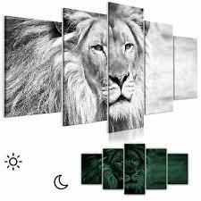 leinwand bilder löwe afrika wandbilder wohnzimmer