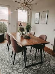 flachgewebeteppich frencie grau teppich unter esstisch