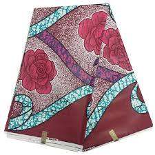 2017 New Pattern Red Color Wholesale African Java Wax Print Fabric Ankara 6 Yard