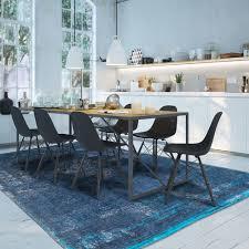 teppich vintage blau wohnzimmer rostock