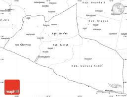 Blank Simple Map Of Yogyakarta