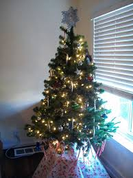 I Got A 4 1 2 Ft Tree On Sale For 40 Off So There Is Much Less To Decorate And The Cats Toddler Mess With