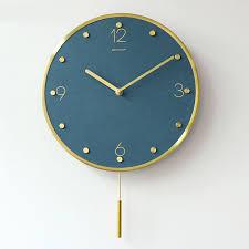 nordic digitale wanduhr moderne design pendel stillen hause wanduhr wohnzimmer metall orologio da parete wand uhren de50wc