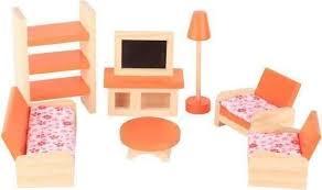 puppenhausmöbel wohnzimmer holz bunt kaufen auf ricardo