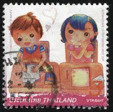 Kari El Cartero De Los Niños Tailandia Carta Ninos Tailandia